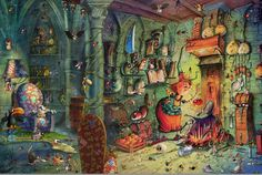 françois ruyer illustrateur Halloween Pictures To Print, Witch Pictures, Scary Halloween, Art Et Illustration, Illustrations, Vintage Witch, Vintage Halloween, Gustav Klimt, Puzzle Photo