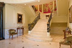 Gorgeous staircases and hallways