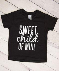 Loving this Black 'Sweet Child of Mine' V-Neck Tee - Infant, Toddler & Kids on #zulily! #zulilyfinds