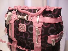 This is a freakin cake!!! A Coach bag!!!! I want a designer bag cake for my upcoming birthday!!! This is truly amazing!! What talent.