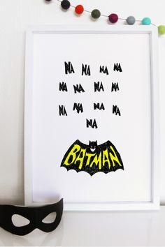 Little Batman Print - Kids - Superette Kids Store, Grand Tour, Awesome Bedrooms, Footprint, Playroom, Things To Come, Batman, Pop, Inspiration