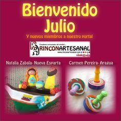 Se nos vino ya el mes de Julio... Y con el llegan nuevos creadores a nuestro porta www.rinconartesanal.com Visitanos y apoya y difunde, en pro del rescate de nuestras raíces.
