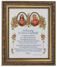 Sacred Heart of Jesus Immaculate Heart of Mary Catholic House Blessing Print The devotion to the Sacred Heart (also known as the Most Sacred Heart of Jesus) is