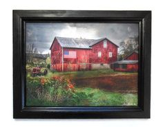 Flag Barn Picture 'Made in America' Lori Dieter Art #differencemakesus #etsysmallbusiness