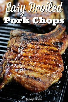 Clean Eating Vegetarian, Clean Eating Recipes, Clean Eating Snacks, Vegetarian Recipes, Healthy Recipes, Simple Recipes, Pork Chops Bone In, Oven Pork Chops, Eat Clean Recipes