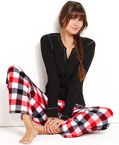 Jenni Pajamas, Supersoft Top and Pajama Pants Set - Womens Pajama Sets & Separates - Macy's