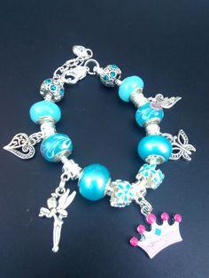 Princess European Charm Bracelet by JusDoBracelets on Etsy