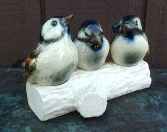 3 Birds on Branch Goebel West Germany Vintage by moonstruckcottage, $30.00