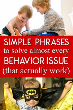 Discipline during the little years can be simple and straightforward with these 8 phrases: they really work on almost every misbehavior during the little years! #parentingtips #littleyears