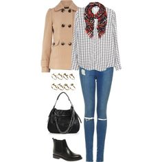 A fashion look from October 2014 featuring Joie blouses, Dorothy Perkins coats and Topshop jeans. Browse and shop related looks.