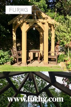 All our porches, shed frames and gazebos are traditionally framed and sent out on a pallet in easy to assemble kit form. We also make rustic furniture pieces that can be delivered whole for the garden and for indoors. Shed Frame, Gazebo, Pergola, Porch Kits, Rustic Furniture, Indoor, Outdoor Structures, Building, Garden