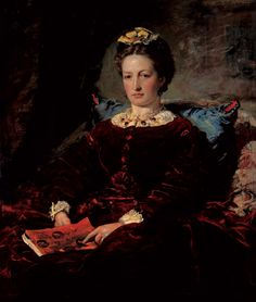 Effie Gray in middle age, painted by husband, John E. Millais, an early member of the pre-raphaelite  brotherhood