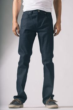 {Vantage Point} Driven Slim-Straight Jeans in Delta Blue, via 20Jeans, $20.00