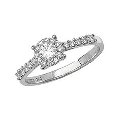 18CT White Gold Diamond Engagement Ring   <p>A sparkling variation of the solitaire rings, the Solitaire ring has a classic design with a striking twist: a diamond encrusted band.</p><p>This beautiful ring features an 18ct white gold polished band, crowned with a round brilliant cut diamond, What better way to show your lasting commitment and love than with a truly beautiful ring