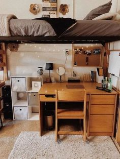 dorm room inspiration * dorm room ideas ` dorm room ` dorm room designs ` dorm room ideas for guys ` dorm room organization ` dorm room decor ` dorm room inspiration ` dorm room hacks Room, Room Ideas Bedroom, Dorm Room Inspiration, Beautiful Dorm Room, House Rooms, College Room, College Bedroom Decor, Dorm Room Designs, College Bedroom
