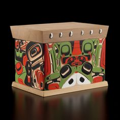 Beaver and Frog Bentwood Box  Jay Simeon  Haida / Blackfoot Nations