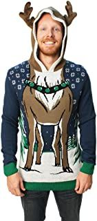 Ugly Christmas Sweater - Ideas that Win all the Ugly Sweater Contests Mens Ugly Christmas Sweater, Reindeer Sweater, Hooded Sweater, Men Sweater, Ugly Sweater Contest, Best Amazon Deals, Boutique, Being Ugly, Hoodies