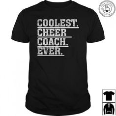 Our cheer coach t-shirt makes a perfect Christmas and Birthday gift for cheer co.