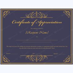 26 best certificate of appreciation templates images on pinterest certificate of appreciation 01 yadclub Images