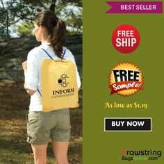 Are you in search of a promotional item, which gives you high ROI, at the same time falls lightly in your budget? You should perhaps think about investing in this custom quick sling budget polyester drawstring backpacks. This drawstring backpack Cotton Drawstring Bags, Drawstring Backpack, Customized Gifts, Custom Gifts, Custom Bags, Budgeting, Backpacks, Free Shipping, Marketing