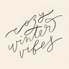 Cozy winter vibes