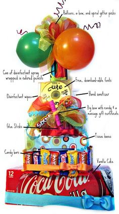 Teacher Supply cake - SO cute for teacher appreciation week! Teacher Supply Cake, Teacher Supplies, School Supplies, Teacher Appreciation Gifts, Teacher Gifts, Teacher Party, Teacher Birthday, Craft Gifts, Diy Gifts
