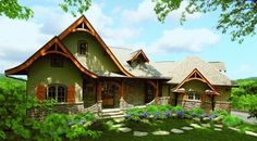 One Idea for dream home. great plan.  The Hot Springs Cottage III - W-DDHGA41-11063 - Garrell Associates