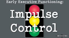 Activity suggestions to develop impulse control as an early executive function in children. Impulse control is often addressed in occupational therapy. Occupational Therapy Activities, Cognitive Behavioral Therapy, Speech Therapy, Social Emotional Learning, Social Skills, Conduct Disorder, Sensory Issues, Sensory Diet, Sensory Activities