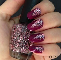 Use OPI Glitter Pink Yet Lavendar for a touch of glitter to transform any lacquer