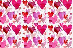 Margaret Berg Art: Overlapping Hearts Gift Wrap