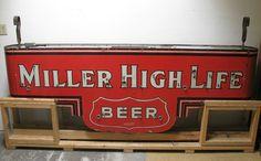 Miller High Life Beer Antique Porcelain Sign