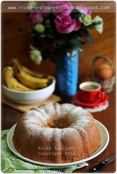 Just My Ordinary Kitchen...: BANANA SPONGE CAKE