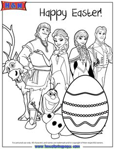 all-frozen-characters-say-happy-easter-coloring-page.gif (670×867)
