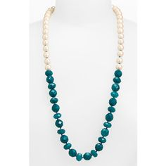 Kate Spade New York 'give It A Swirl' Long Necklace ($49) ❤ liked on Polyvore featuring jewelry, necklaces, kate spade, long pearl necklace, beaded strand necklace, handcrafted beaded necklaces and kate spade jewelry