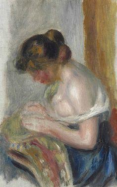 Pierre-Auguste Renoir (1841-1919) La couseuse