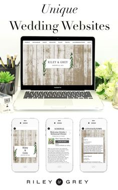 """Olive"" rustic, natural wedding website design example from Riley & Grey. Click through to view this and other limited-edition, luxury templates.  (wedding planning, wedding app, save the date, invitations, modern wedding)"