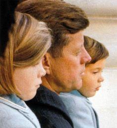 JFK with his children.