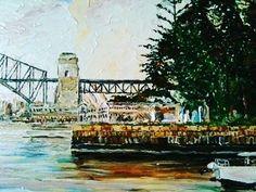 #australia #artist #art #painting #paint #sydney #sydneyharbour #balmain #sydneyharbourbridge #bridge #water #sea #acrylic by coventry_creations http://ift.tt/1NRMbNv