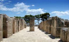 Phaistos Palace & Archaeological Site, Crete island, Greece:The Monuments