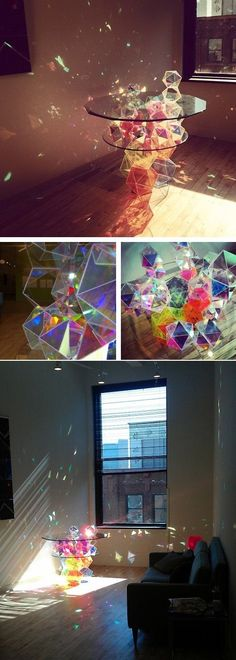 Glass art installation. Refraction #homecinemaintallation
