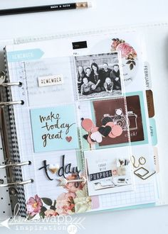 Brand new 2016 Heidi Swapp Memory Planner 2015 Planner, Blog Planner, Happy Planner, Planner Ideas, Vintage Jewelry Crafts, Heidi Swapp, Day Planners, Planner Organization, How To Make Notes