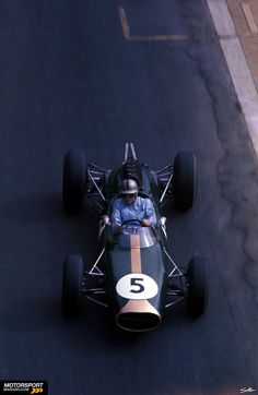 Jack Brabham in his own brand car at the Monaco Grand Prix 1964