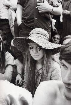 """Girl at Rolling Stones concert"" is probably one of the most iconic images from the late sixties, but we never really had a name. Until now. I was researching something Marianne Faithfull related when I came across an article about the Stone's free concert in Hyde Park, London in 1969. It has a shot of this girl and the caption reads: ""Hats off to teenage fashion … as displayed by the eye-catching sequins worn by Pamela Donaldson (…)""Photo by Ian Harris, 1969."