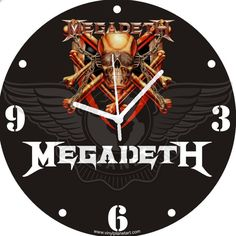 VINYL PLANET Wall Clock MEGADETH Home Record Unique Decor upcycled 12''