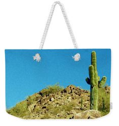 Nature Weekender #Tote #Bag featuring the photograph #Desert #Sky by Judi Saunders