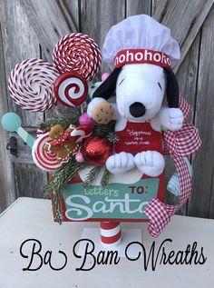 Christmas Centerpiece Snoopy Christmas Wreath Charlie Brown