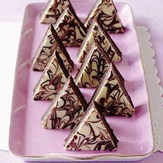 Triple Chocolate Mousse Pyramids