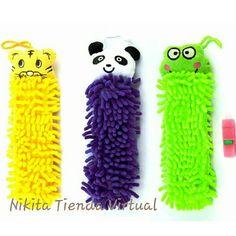 divertidas toallas decorativas disponibles en forma de tigre panda y ranita