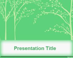 Tree Leaves PowerPoint Template is a simple green background with tree leaves illustration on the master slide and you can download this free PowerPoint template to decorate your presentations with nature backgrounds