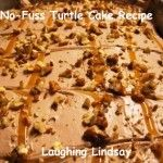 No-fuss turtle cake with cool whip frosting